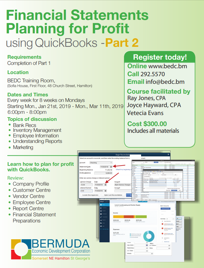 Financial Planning for Profit using Quickbooks – Part 2