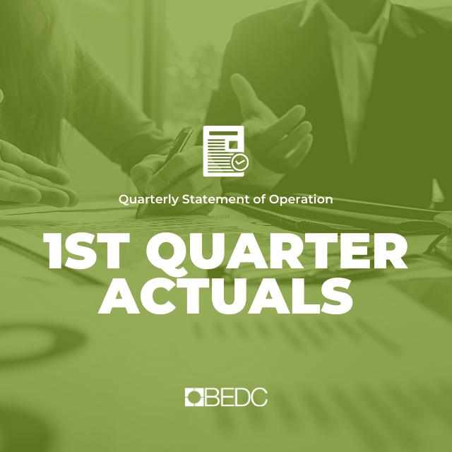 1st Quarter 2020-2021 Actuals