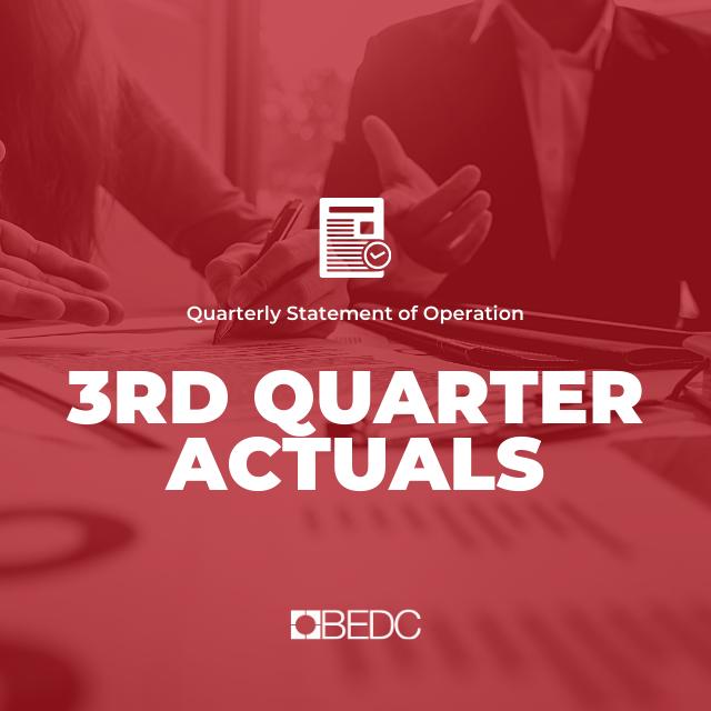 3rd Quarter 2019-2020 Actuals