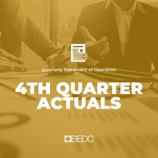 4th Quarter 2019-2020 Actuals